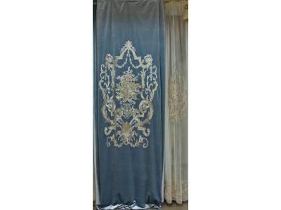 Бархат «Панно Палацио» с вышивкой арт. РН 16002-23 голубой