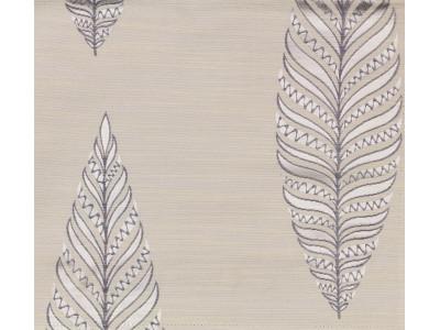 """Портьерная ткань """"Тоскана"""" листики арт. SL181119-01 молочно-голубой"""