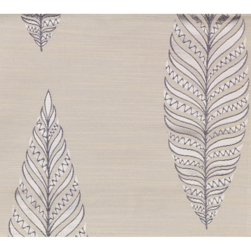 """Ткань """"Тоскана"""" листики арт. SL181119-01 молочно-голубой"""