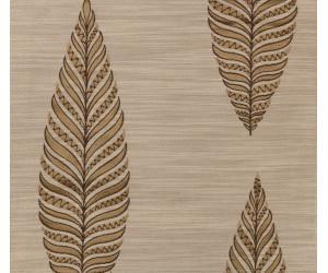 """Портьерная ткань """"Тоскана"""" листики арт. SL181119-03 бежево-коричневый"""