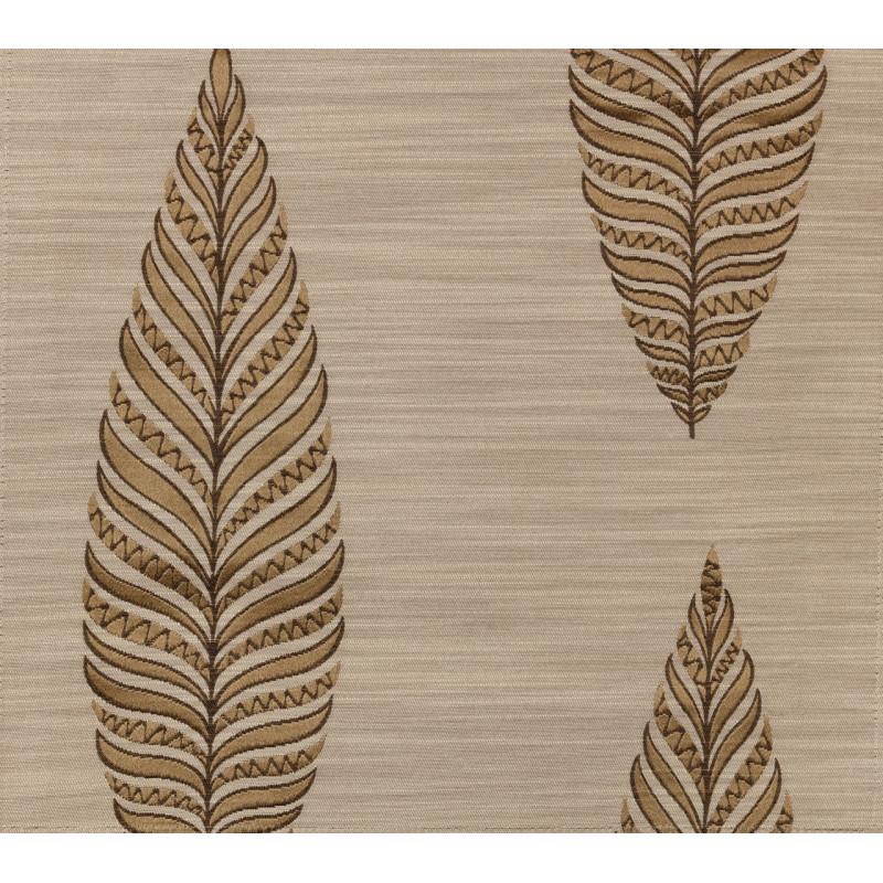 "Ткань ""Тоскана"" листики арт. SL181119-03 бежево-коричневый"