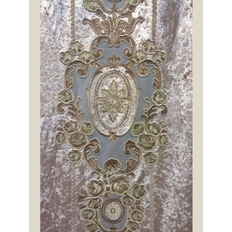 Мраморный бархат «Камелия» арт. 011711101-05 бежевый