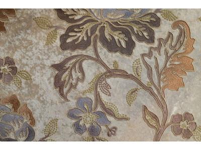 Бархат с вышивкой «Бьюти» бежевый арт. J 151010C-4