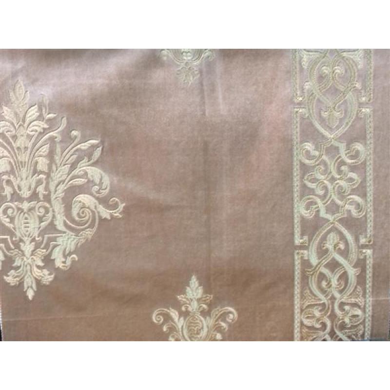 Бархат «Императорский» с вышивкой в золотых тонах арт. 130623А-11