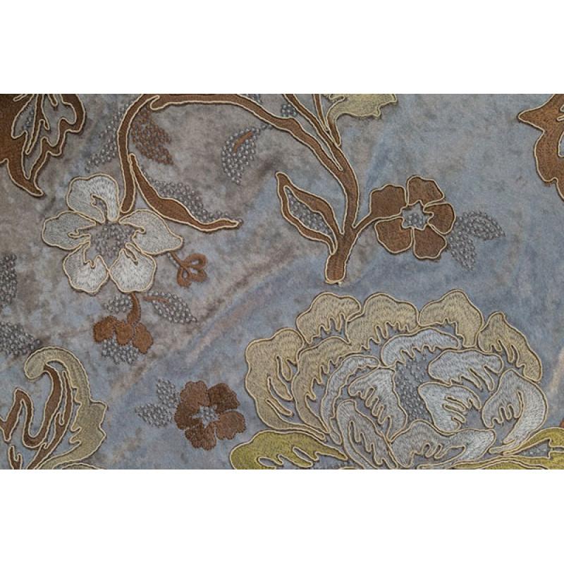 Бархат с вышивкой «Бьюти» серый арт. J 151010C-24 серый