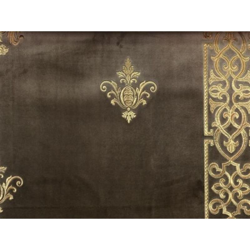 Бархат «Императорский» с вышивкой в золотых тонах арт. 130623А-18