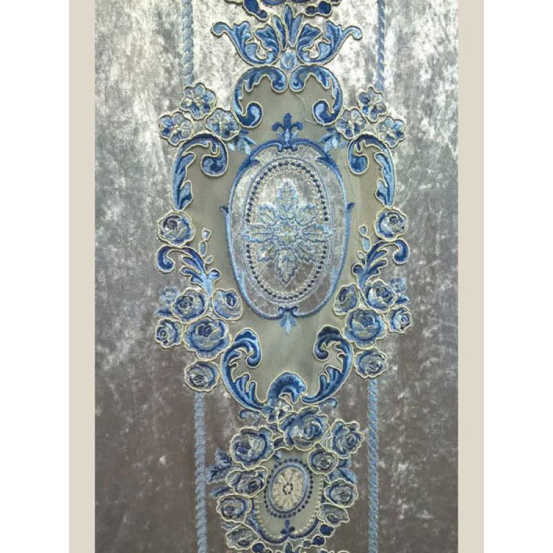 Мраморный бархат «Камелия» арт. 011711101-24 серебристо-серый