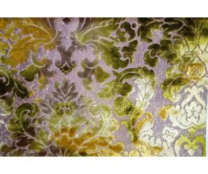 Бархат «Ноблесс» с рисунком арт. NB 150977A-7 желто-зеленый