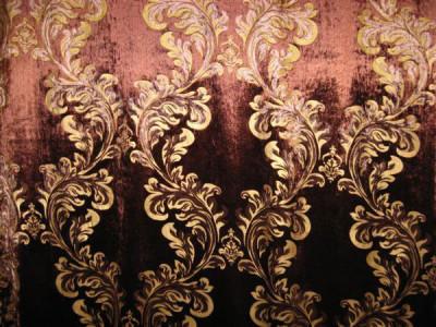 Бархат с термопечатью арт. 2011-6 коричневый