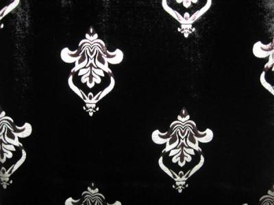 Бархат с термопечатью арт. 2012-1 черный