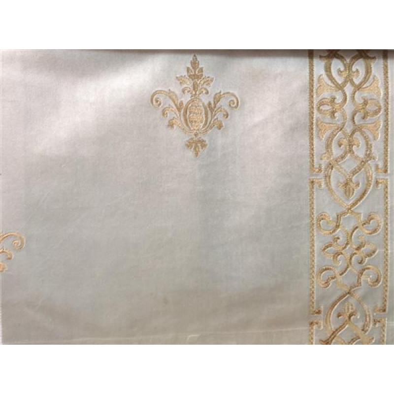 Бархат «Императорский» с вышивкой в золотых тонах арт. 130623А-2