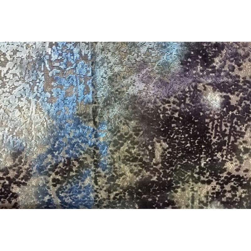 Бархат «Ноблесс» с рисунком арт. NB 150977D-4 сине-фиолетовый