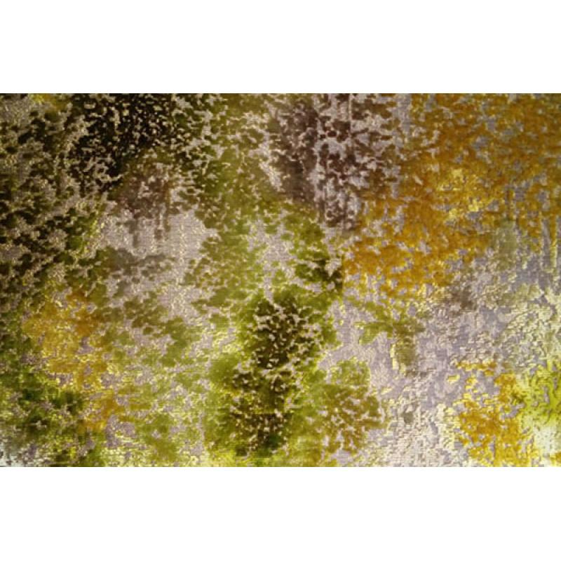 Бархат «Ноблесс» с рисунком арт. NB 150977D-7 желто-зеленый