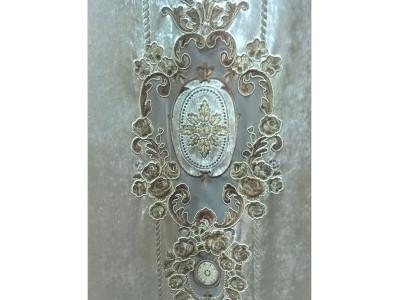 Мраморный бархат «Камелия» арт. 011711101-04 светло-бежевый
