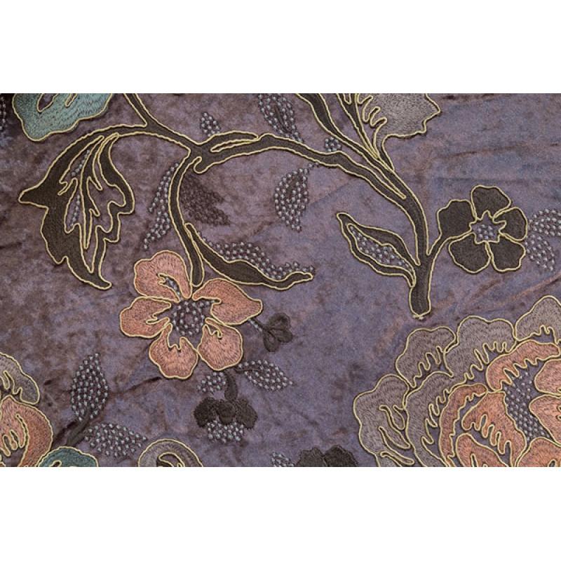 Бархат с вышивкой «Бьюти» светло-фиолетовый арт. J 151010C-2 фиолетовый