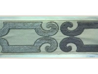 Бордюр для штор арт. 1110-4 серый