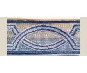 Бордюр для штор арт. 1112-8 сине-голубой