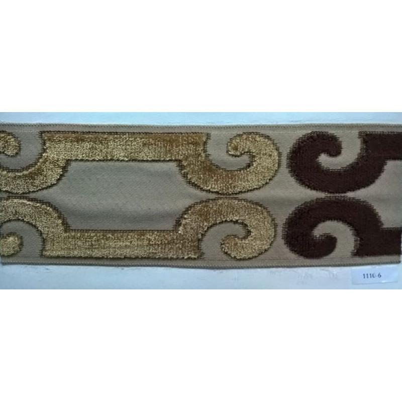 Бордюр для штор арт. 1110-6 коричневый