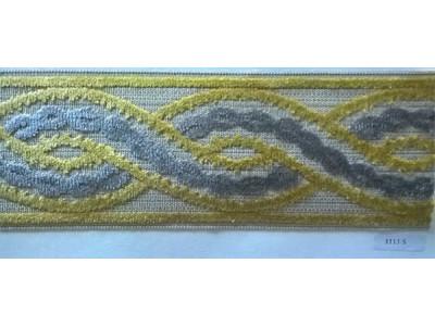 Бордюр для штор арт. 1113-5 желто-серый