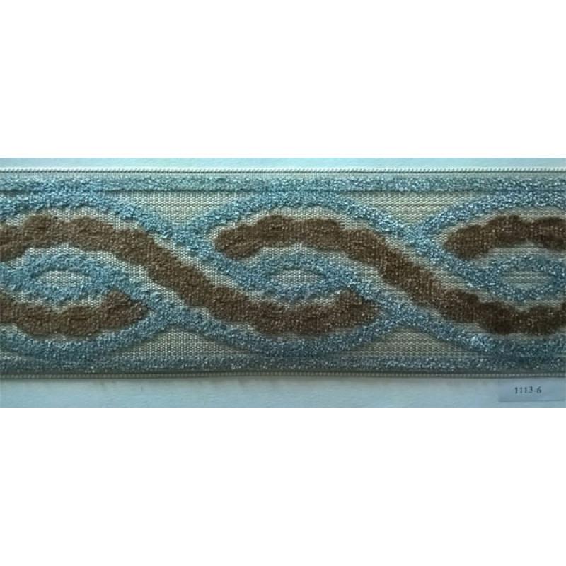 Бордюр для штор арт. 1113-6 серо-коричневый