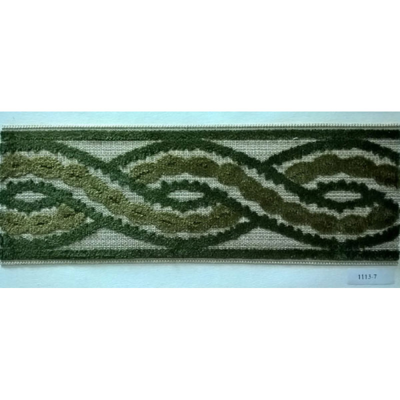 Бордюр для штор арт. 1113-7 зеленый