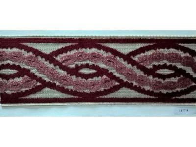 Бордюр для штор арт. 1113-8 красно-розовый
