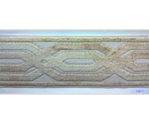 Бордюр для штор арт. 1109-2 бежево-оливковый