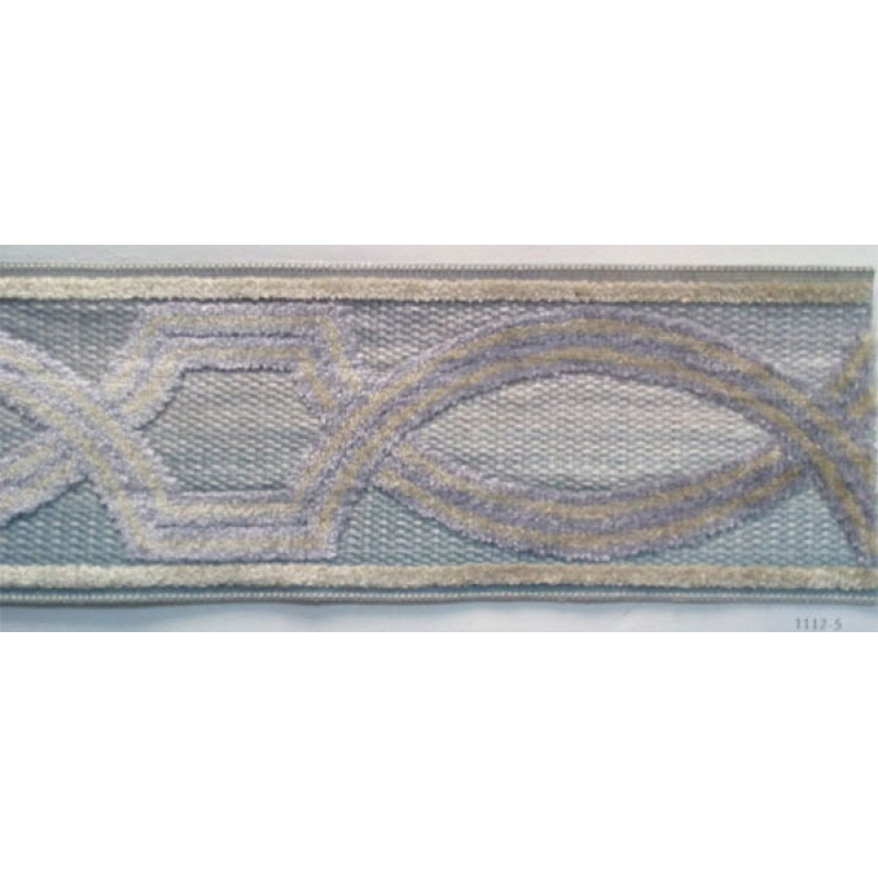 Бордюр для штор арт. 1112-5 бежево-сиреневый