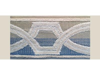 Бордюр для штор арт. 1112-7 бежево-голубой
