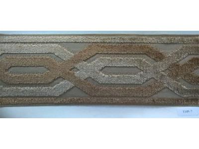 Бордюр для штор арт. 1109-7 коричневый