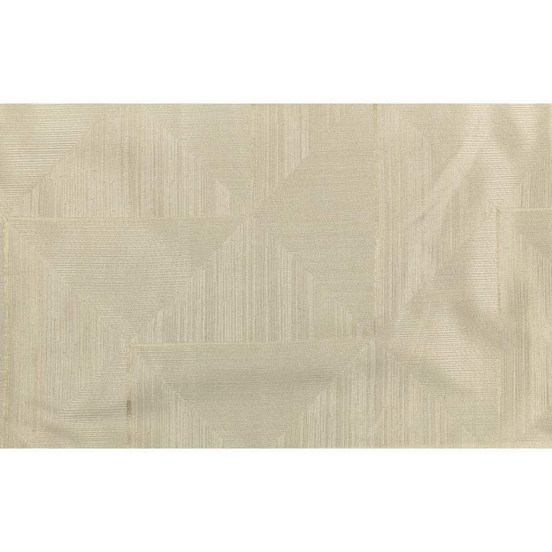 """Ткань портьерная """"Коражио"""" треугольники и квадраты диагональ арт. В18701-1 молочный"""