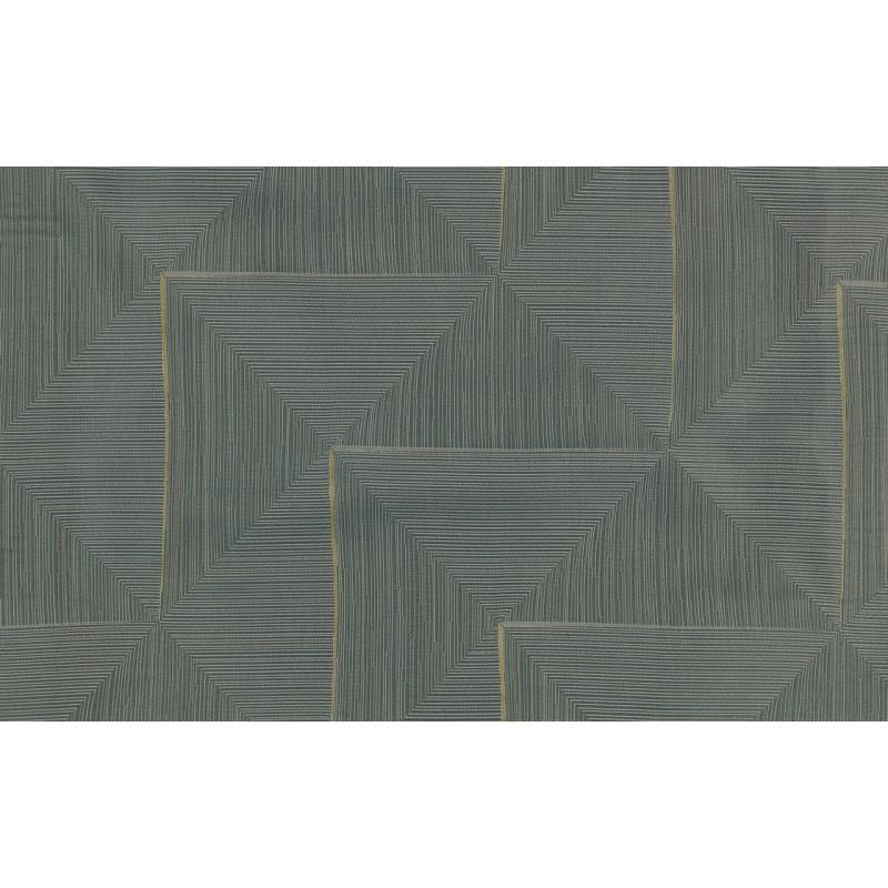 """Ткань портьерная """"Коражио"""" треугольники и квадраты диагональ арт. В18701-4 бирюзовый"""