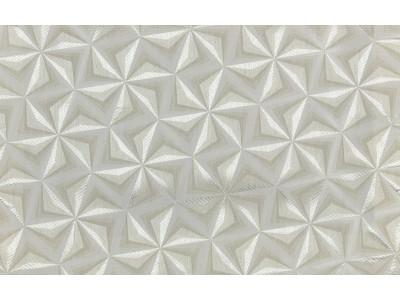 """Ткань портьерная """"Коражио"""" 3D треугольник арт. SL 181024-1 молочный"""