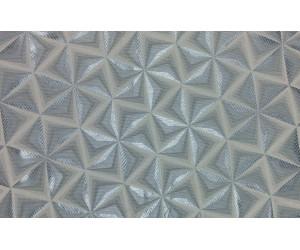"""Ткань портьерная """"Коражио"""" 3D треугольник арт. SL 181024-5 голубой"""