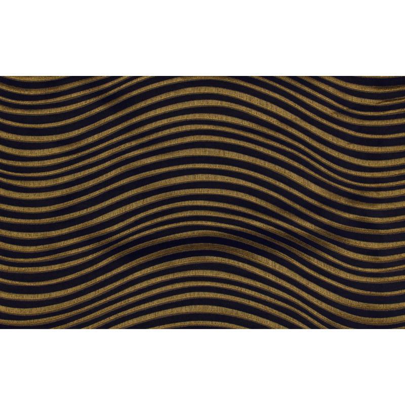 """Ткань портьерная """"Коражио"""" волна арт. SL181023-5 синий с золотым"""