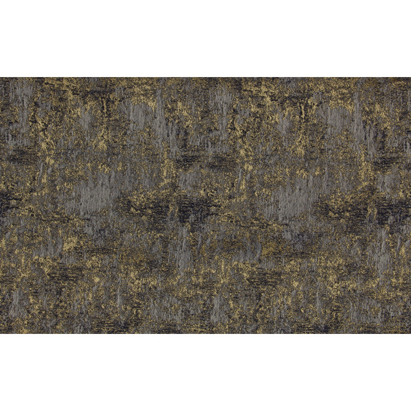 """Ткань портьерная """"Коражио"""" штукатурка арт.SL181043-11 синий с золотым"""