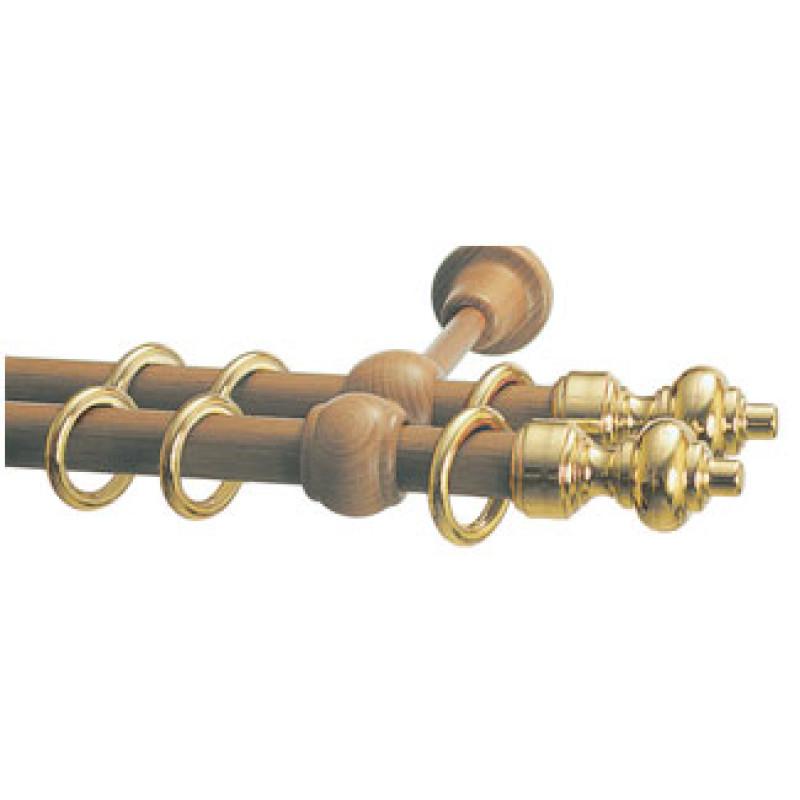 Карниз двухрядный D28/D28 дуб - золото