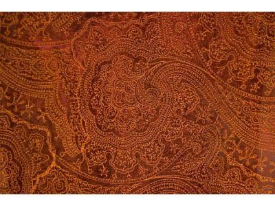 Органза Фэнтези Восточный стиль арт. PTS 102-2 органза красная, вышивка оранжевая