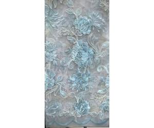 Тюль органза «Парадиз Гарден» арт. 011718706-12 бирюзовый