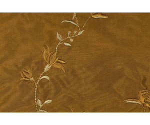 Натуральный шёлк с вышивкой арт. JS 212-18 бронзовый