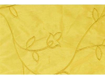 Натуральный шёлк с вышивкой арт. JY 1224-4 светло-желтый