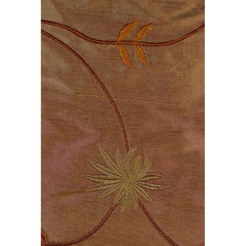 Натуральный шёлк с вышивкой арт. JS 602-8 розовый
