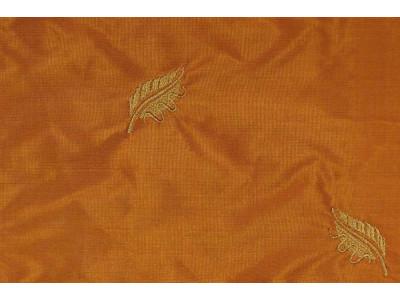 Натуральный шёлк с вышивкой арт. JY 1228-9 терракотовый