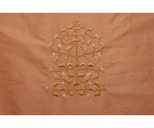 Натуральный шёлк с вышивкой арт. JY 1231-8 розовый