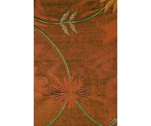 Натуральный шёлк с вышивкой арт. JS 602-24 коричневый