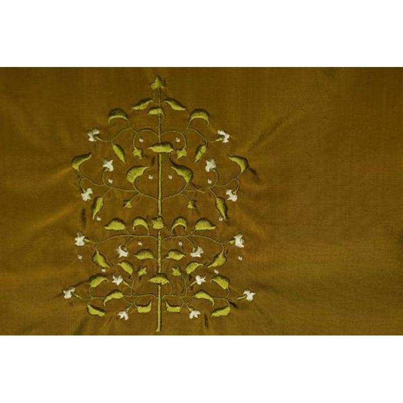 Натуральный шёлк с вышивкой арт. JY 1231-18 бронзовый