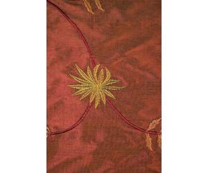 Натуральный шёлк с вышивкой арт. JS 602-28 красно-коричневый