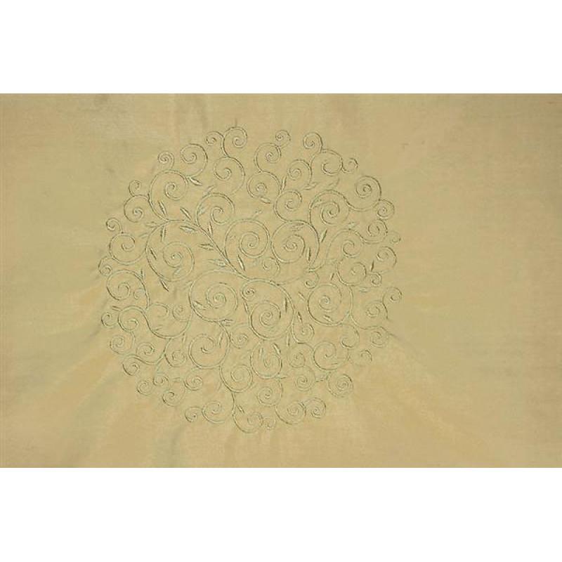 Натуральный шёлк с вышивкой арт. JY 1232-2 бежевый