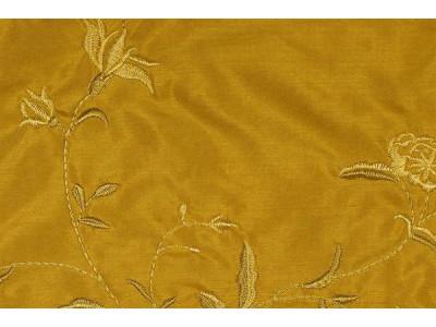 Натуральный шёлк с вышивкой арт. JS 212-5 золотой