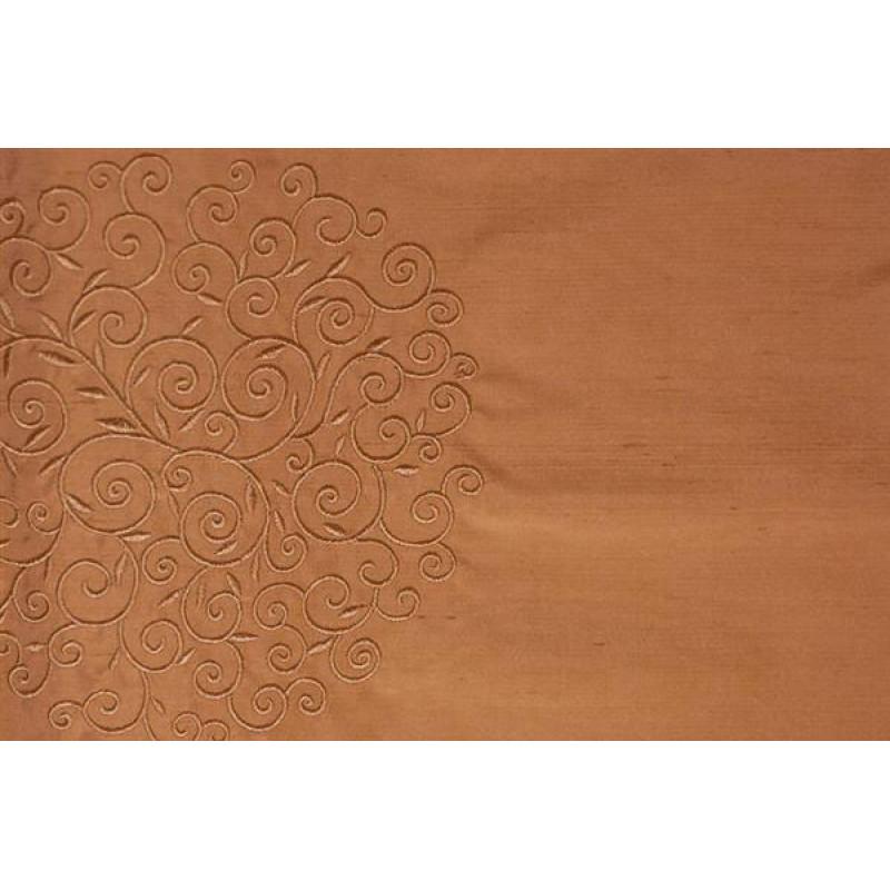 Натуральный шёлк с вышивкой арт. JY 1232-8 розовый